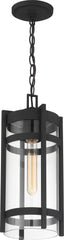 Nuvo Tofino 1-Light Hanging Lantern w/ Clear Seeded Glass in Textured Black