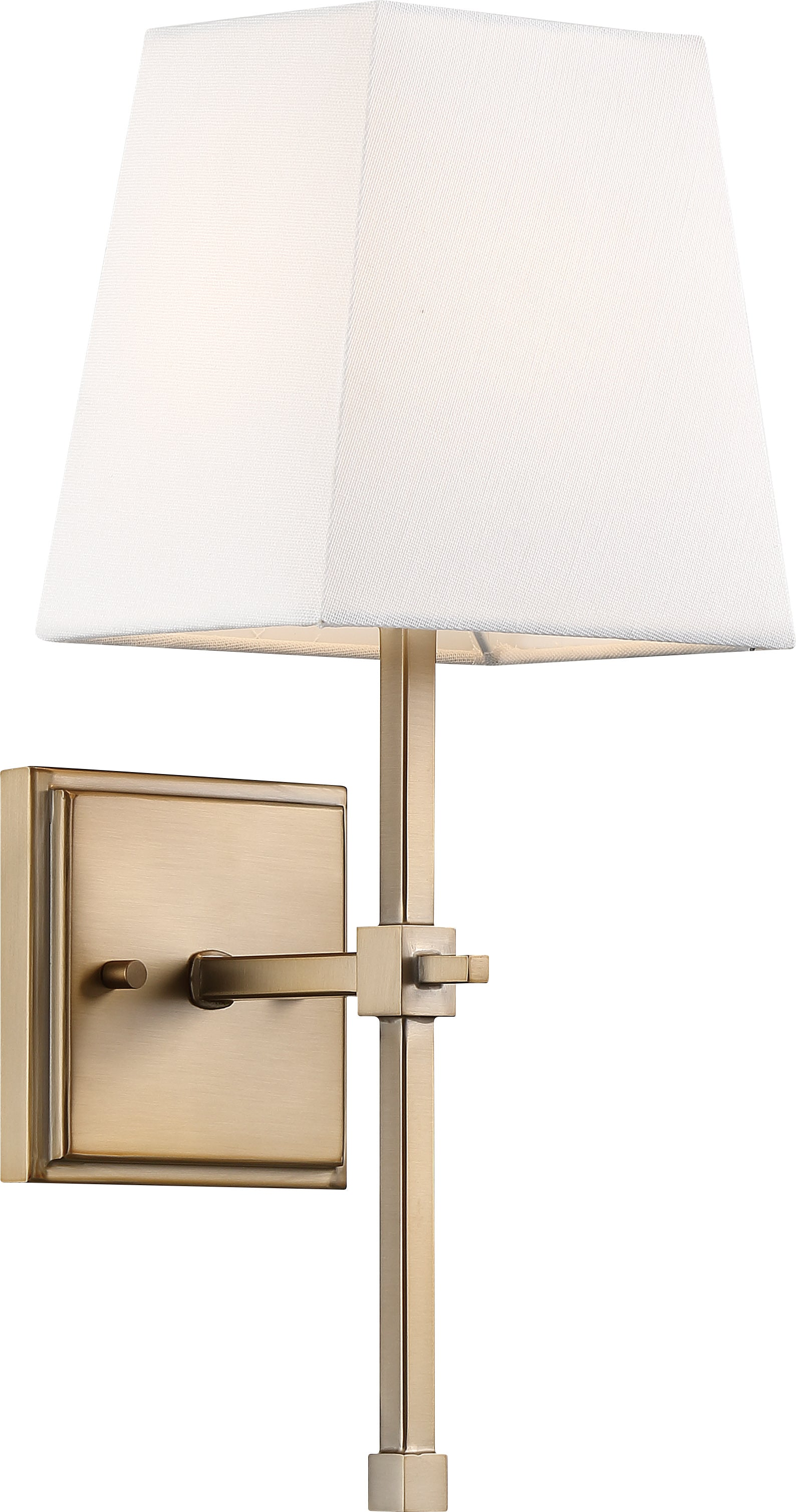 Nuvo 60w Type B Highline Wall 1-Light 120v Burnished Brass & White Shade