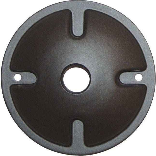 1-Light Die Cast Mounting Plate - Dark Gray