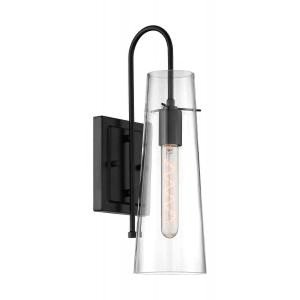 Nuvo Alondra 1-Light Mini Pendant w/ Clear Glass in Black Finish