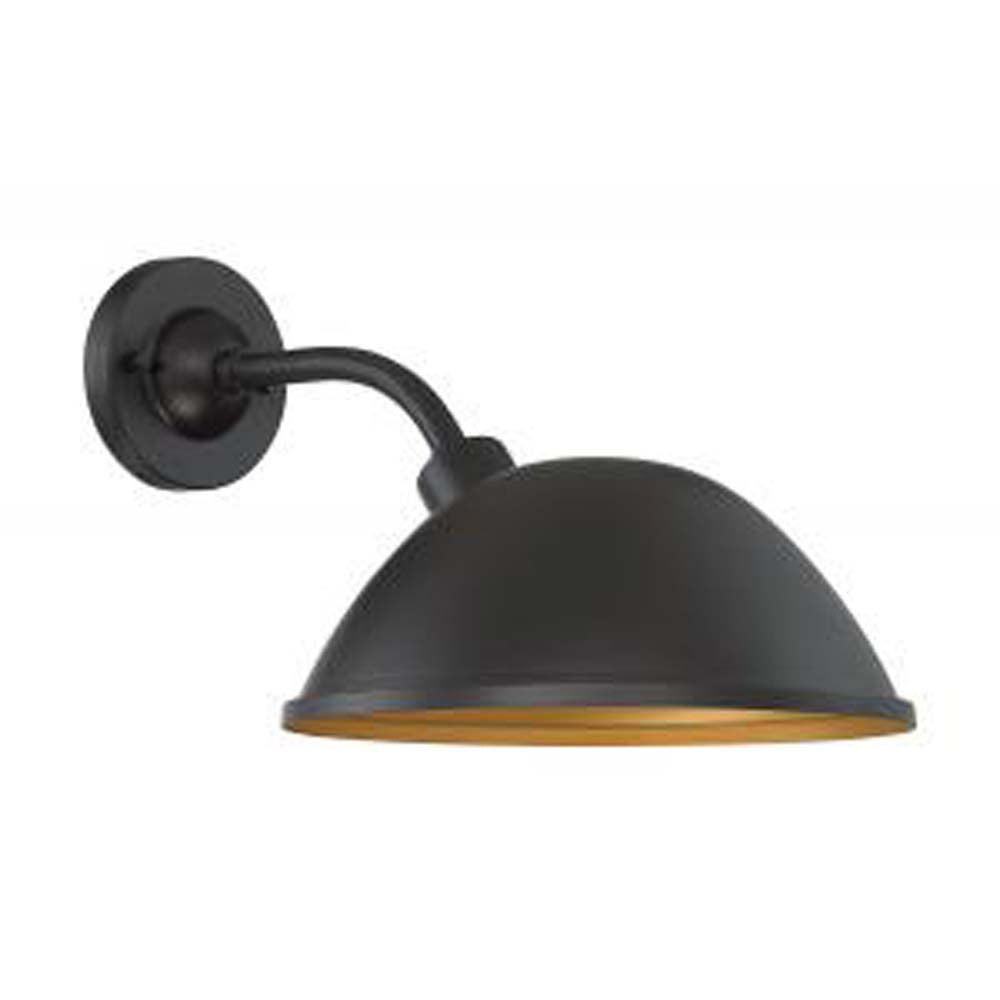 "Nuvo South Street 1-Light 12"" Wall Sconce w/ Dark Bronze & Gold Finish"