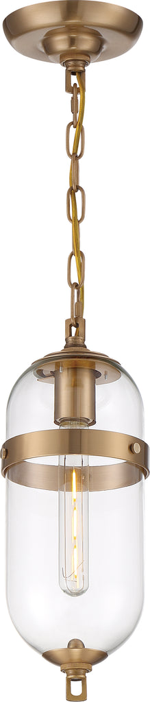 Nuvo 60w T9 Fathom Mini Pendants 120v Vintage Brass finish