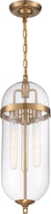 Nuvo 60w T9 Fathom Pendants 3-Light 120v Vintage Brass finish