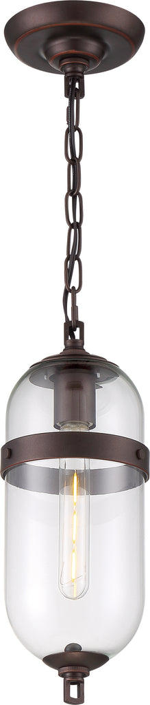 Nuvo 60w T9 Fantom Mini Pendants 120v Mahogany Bronze with Clear finish