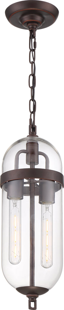 Nuvo 60w T9 Fathom Pendants 2-Light 120v Mahogany Bronze finish