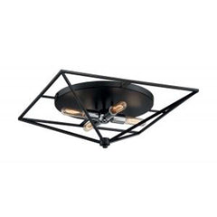 Nuvo Legend 4-Light Large Flush Mount w/ Black & Polished Nickel Finish