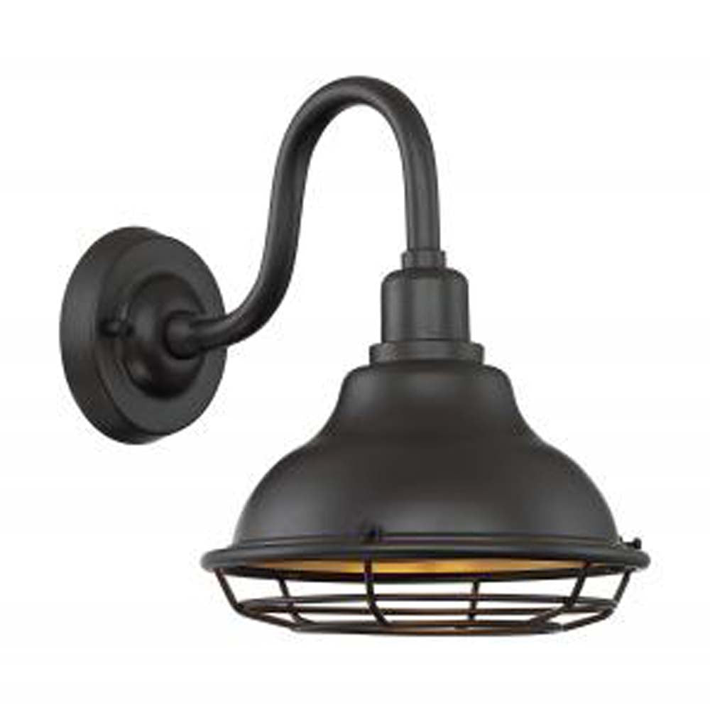 "Nuvo Newbridge 1-Light 9.75"" Sconce w/ Dark Bronze & Gold Finish"