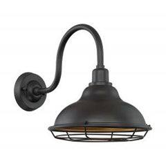 "Nuvo Newbridge 1-Light 12"" Sconce w/ Dark Bronze & Gold Finish"