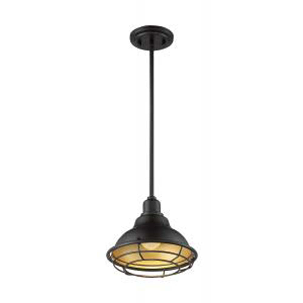 Nuvo Newbridge 1-Light Small Pendant w/ Dark Bronze & Gold Finish