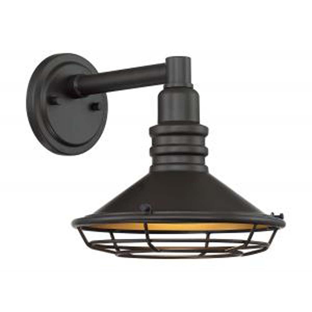 "Nuvo Blue Harbor 1-Light 9.75"" Sconce w/ Dark Bronze & Gold Finish"