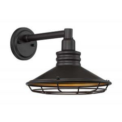 "Nuvo Blue Harbor 1-Light 10"" Sconce w/ Dark Bronze & Gold Finish"