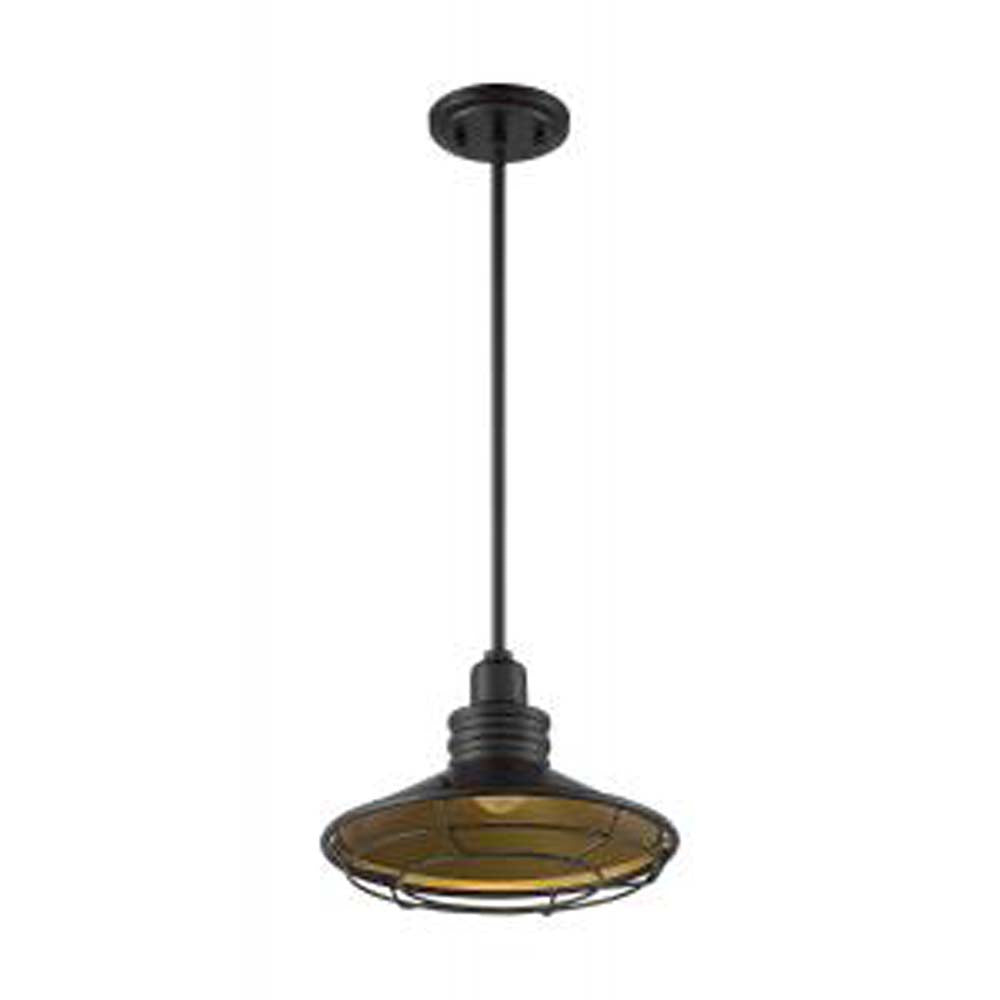 Nuvo Blue Harbor 1-Light Pendant w/ Dark Bronze & Gold Finish