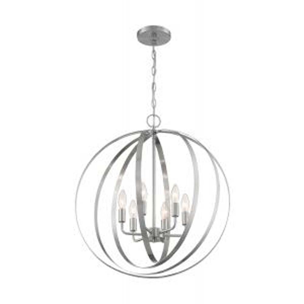Nuvo Pendleton 6-Light Pendant w/ Brushed Nickel Finish