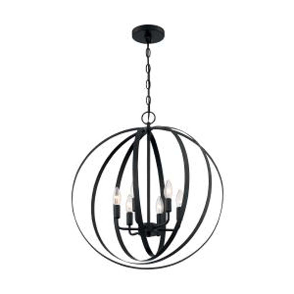 Nuvo Pendleton 6-Light Pendant w/ Matte Black Finish