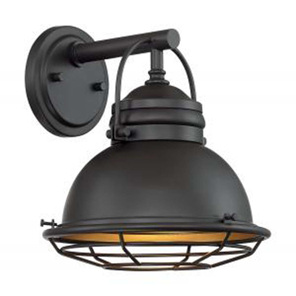 """Nuvo Upton 1-Light 9.75"""" Wall Sconce Fixtures w/ Dark Bronze & Gold Finish"""