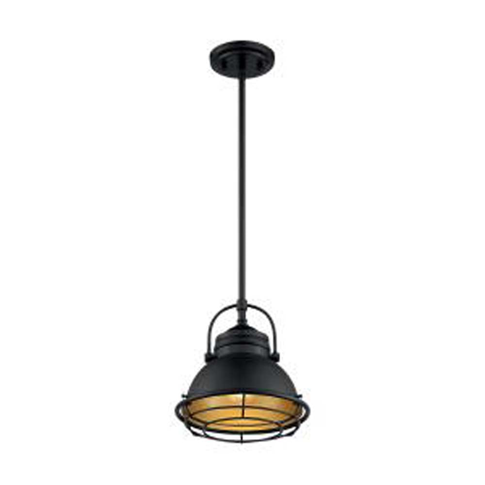 Nuvo Upton 1-Light Small Pendant w/ Dark Bronze & Gold Finish