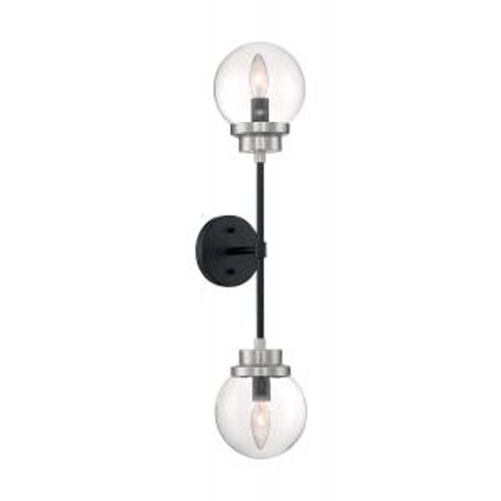 Nuvo Axis 3-Light Semi Flush w/ Clear Glass in Brushed Nickel Finish