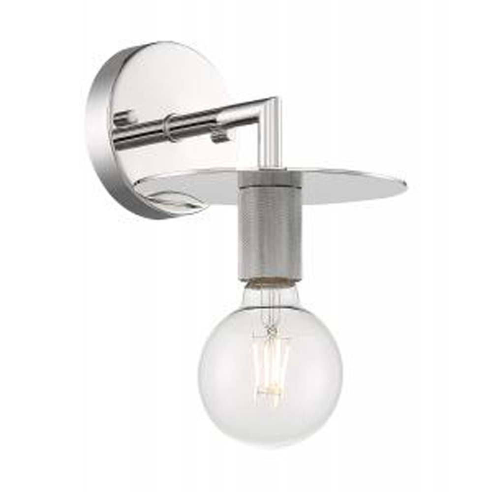 Nuvo Bizet 1-Light Wall Sconce w/ Polished Nickel Finish