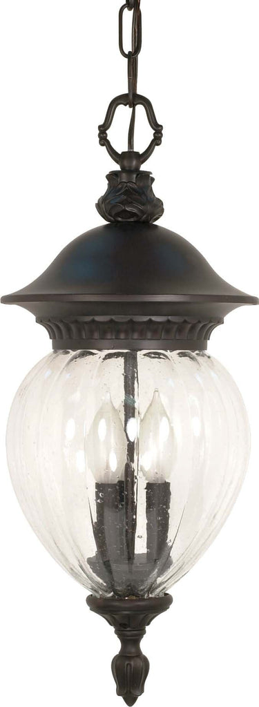 Nuvo Balun - 3 Light - 22 inch - Hanging Lantern - w/ Clear Melon Seed Glass