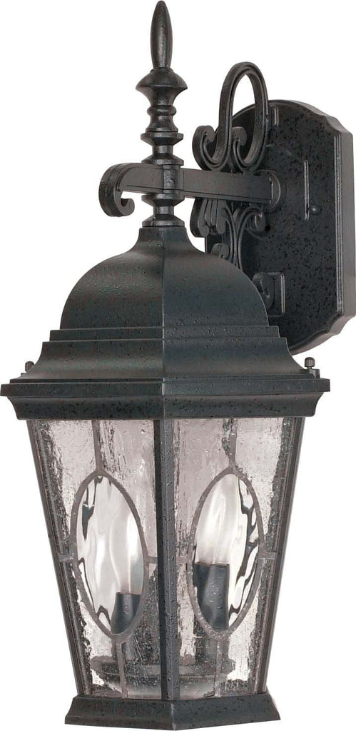 Nuvo Fordham - 3 Light - 20 inch - Wall Lantern - Arm Down w/ Clear Water & Seed Glass Panels