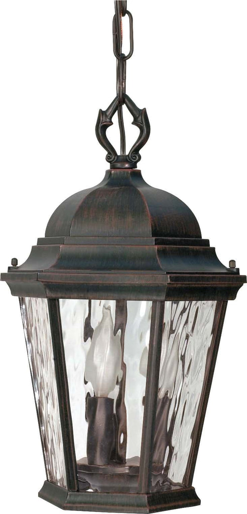 Nuvo Fordham - 3 Light - 16 inch - Hanging Lantern - w/ Clear Water Glass