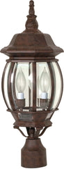 Nuvo Central Park - 3 Light - 21 inch - Post Lantern - w/ Clear Beveled Glass