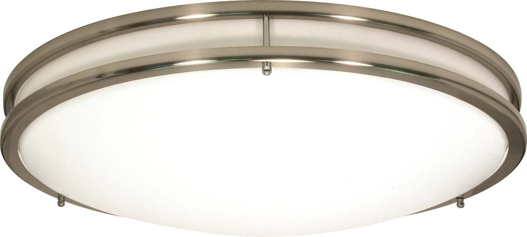 "Nuvo Glamour 3-Light 13"" CFL Flush Mount w/ (3) GU24 Include in Brushed Nickel"