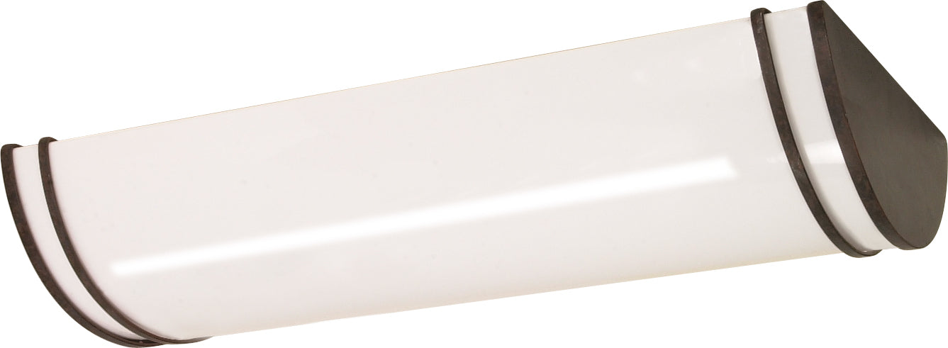 """Nuvo Glamour 3-Light 25"""" Flush Month Linear Ceiling in Old Bronze Finish"""