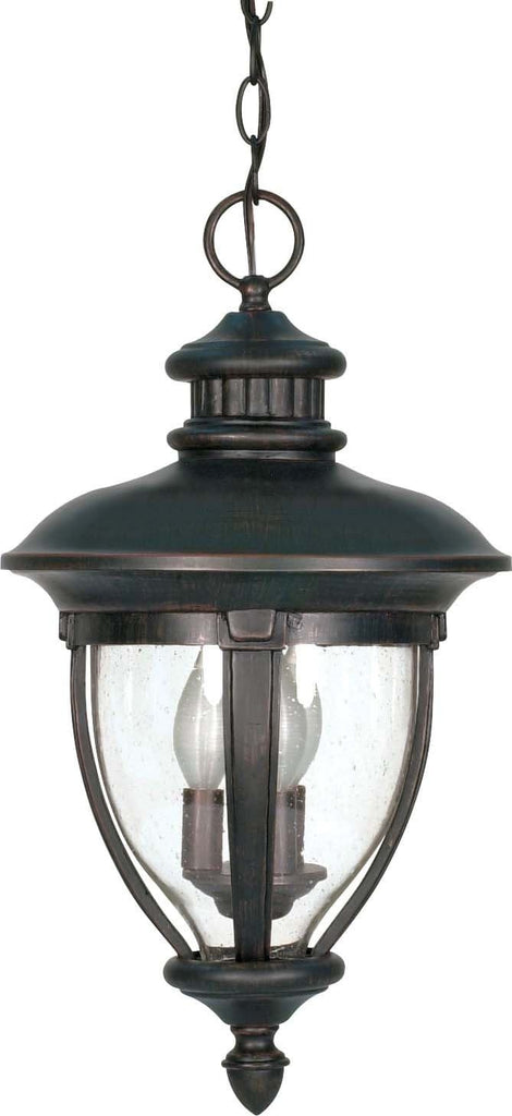 Nuvo Galeon - 3 Light - 20 inch - Hanging Lantern - w/ Clear Seed Glass