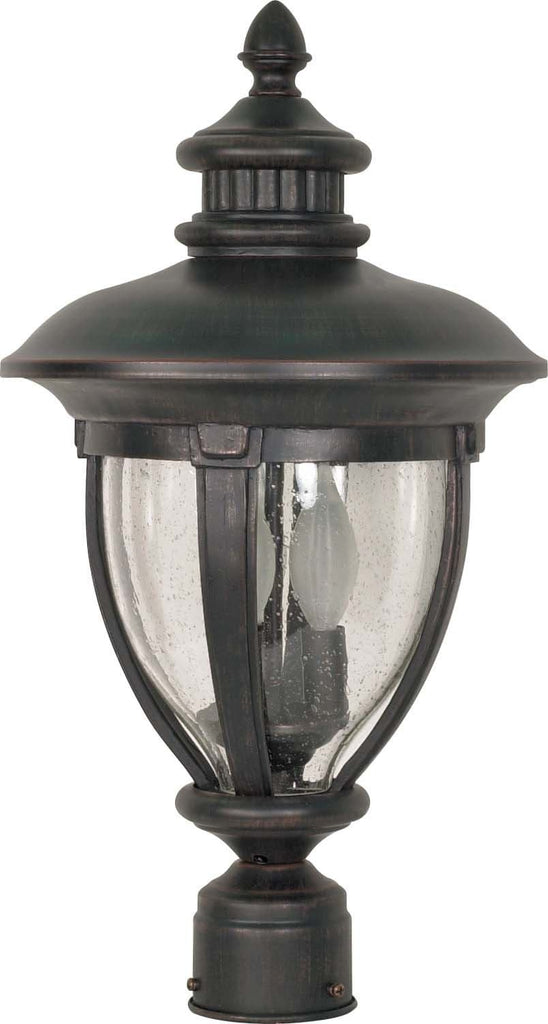 Nuvo Galeon - 3 Light - 20 inch - Post Lantern - w/ Clear Seed Glass