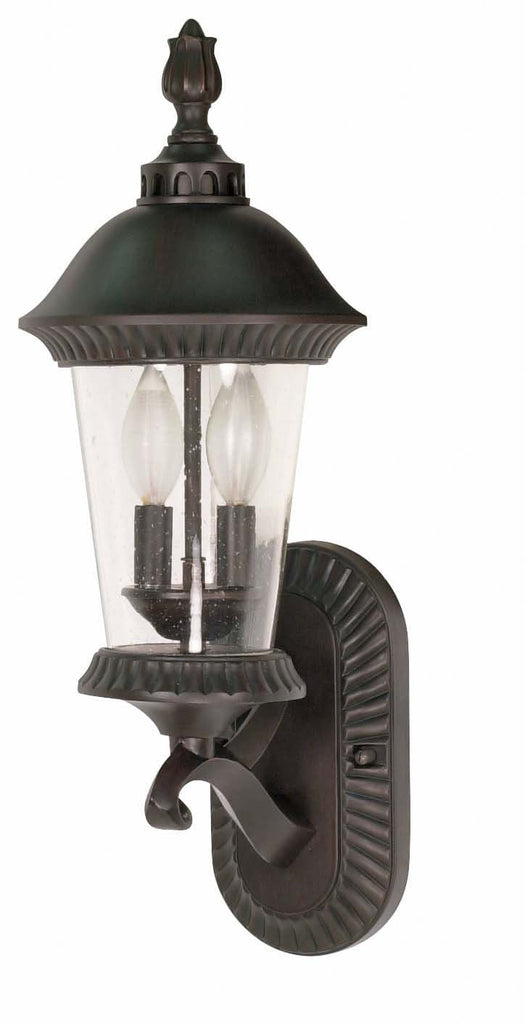Nuvo Clarion - 3 Light - 20 inch - Wall Lantern - Arm Up w/ Clear Seed Glass