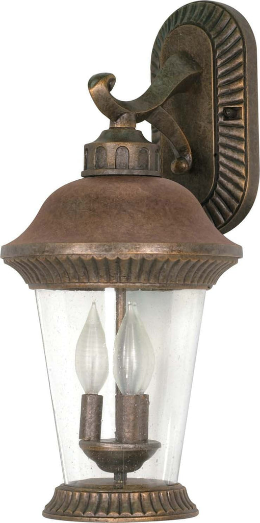 Nuvo Clarion - 3 Light - 20 inch - Wall Lantern - Arm Down w/ Clear Seed Glass
