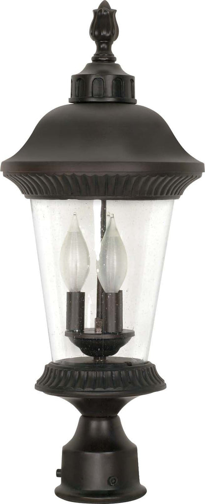 Nuvo Clarion - 3 Light - 22 inch - Post Lantern - w/ Clear Seed Glass