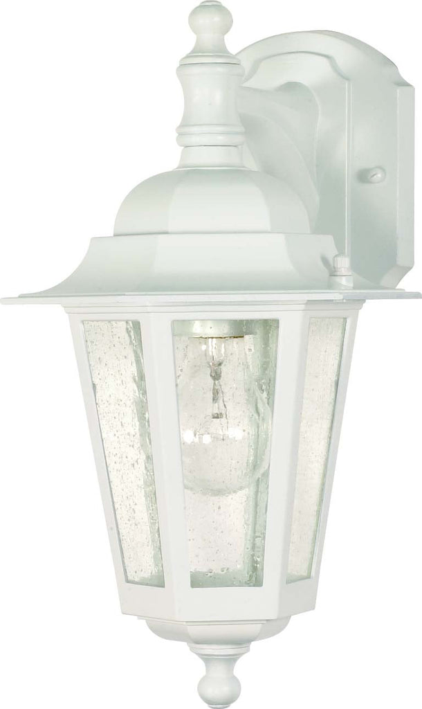 Nuvo Cornerstone - 1 Light - 13 inch - Wall Lantern - Arm Down/Clear Seed Glass