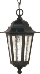Nuvo Cornerstone - 1 Light - 13 inch - Hanging Lantern - w/ Clear Seed Glass
