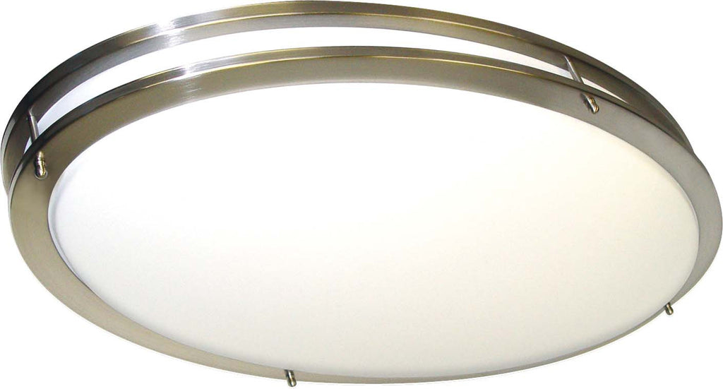 Nuvo Glamour - 2 Light Cfl - 32 inch Oval - Flush Mount - (2) 36W Fluorescent