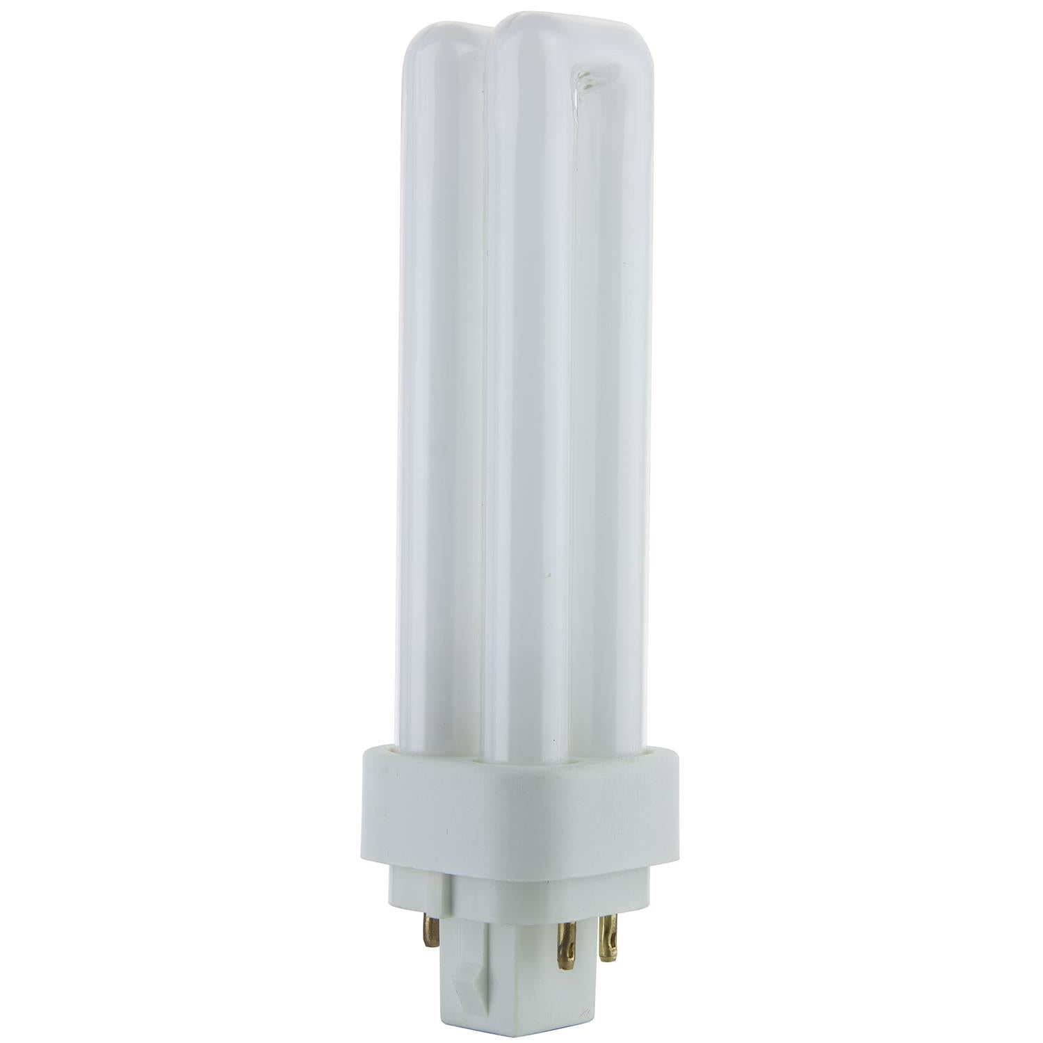 SUNLITE 13w G24q-1 PLD 4-Pin Double U-Shaped Twin Tube 5000K Super White Lamp