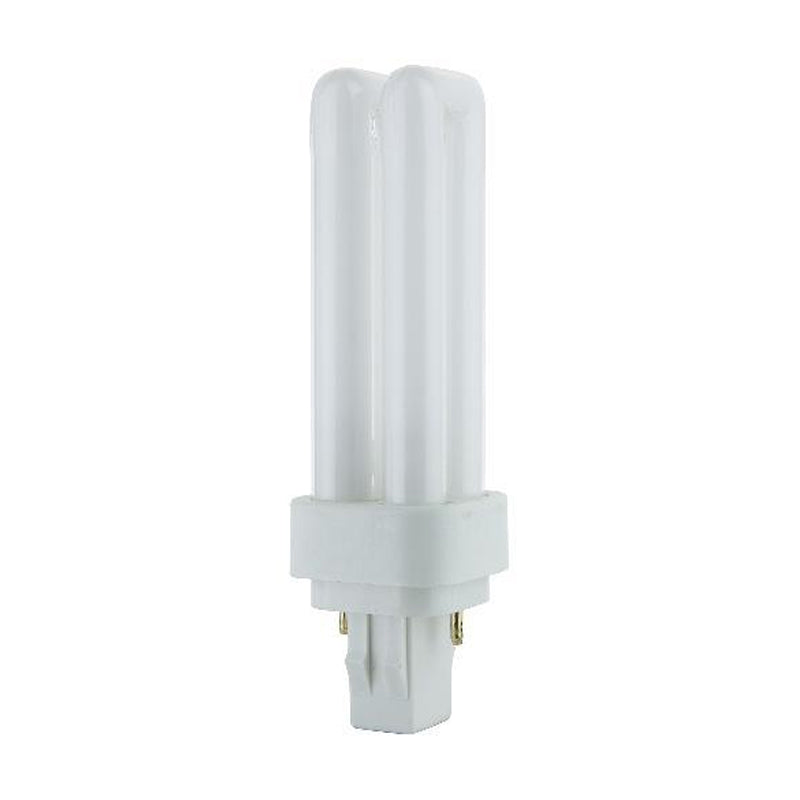 LUXRITE 13W Double Tube 2-Pin 3500K GX23-2 Fluorescent Light Bulb