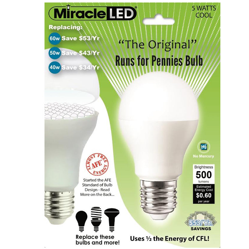 Miracle LED Ulta SAVER 2w 120v Cool White E26 PAR20 General Purpose LED Light Bulb