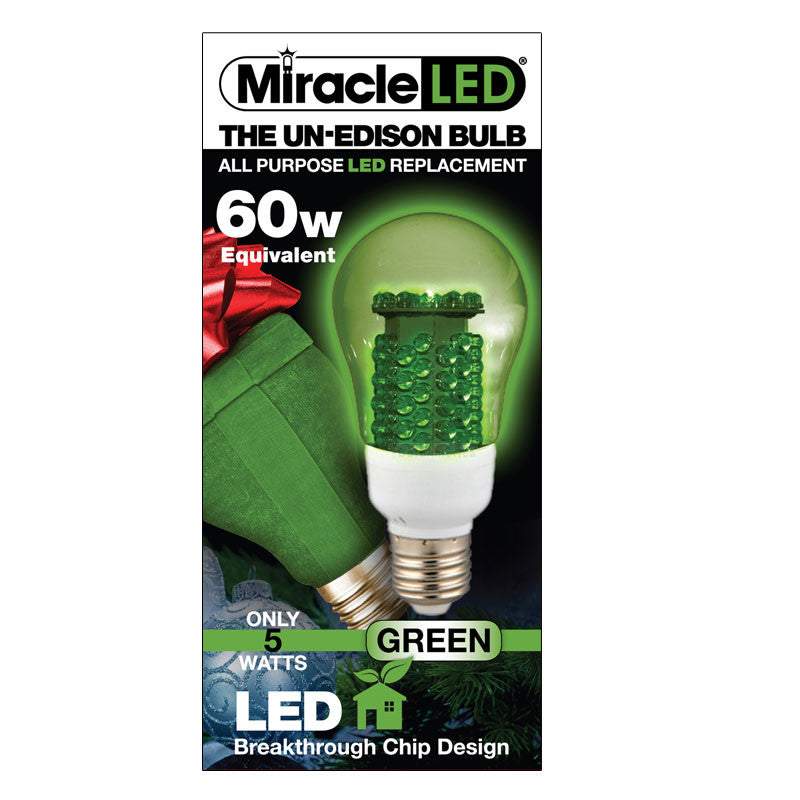 Miracle LED Un Edison 5w Green Plant Room Bulb Hydroponic E26 LED Light Bulb