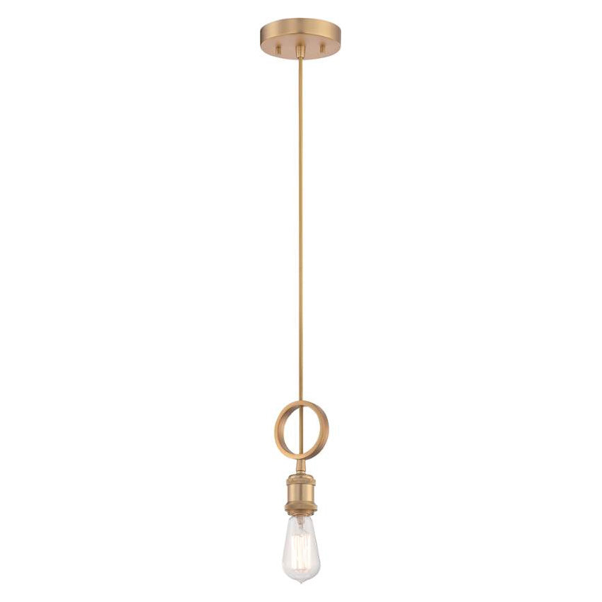 Nuvo Lighting Natural Brass Paxton 1 Mini Pendant Light - 5 Inches Wide