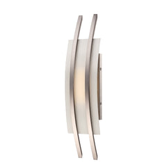 "Nuvo Trax 4.8w 7"" LED Wall Sconce w/ Frosted Glass in Brushed Nickel Finish"