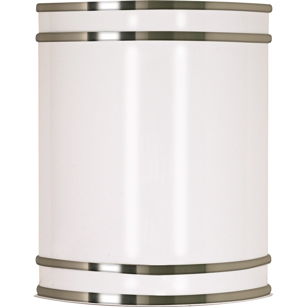 "Glamour LED 9"" Wall Sconce - Brushed Nickel Finish - Lamps Included"