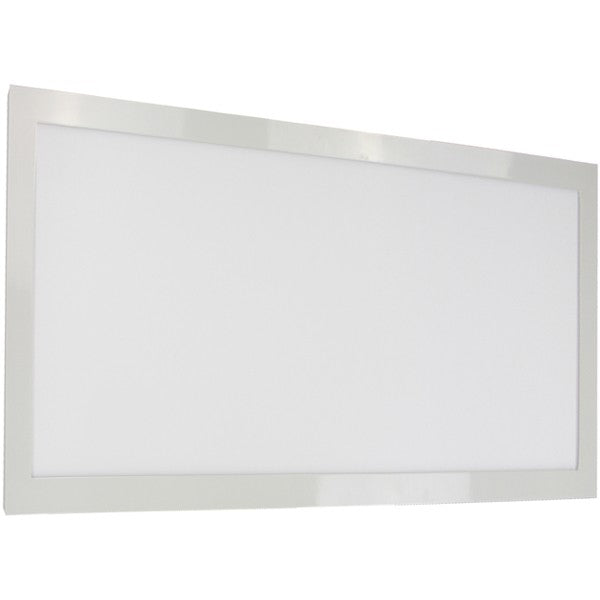 "22W 12"" x 24"" Surface Mount LED Fixture 3000K White Finish 120/277V"