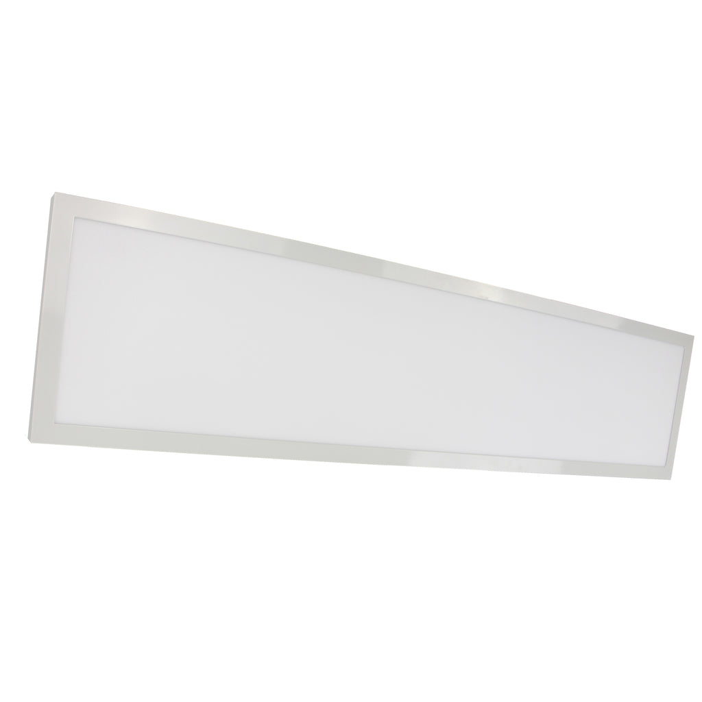 "45W 12"" x 48"" Surface Mount LED Fixture 3000K White Finish 120/277V"