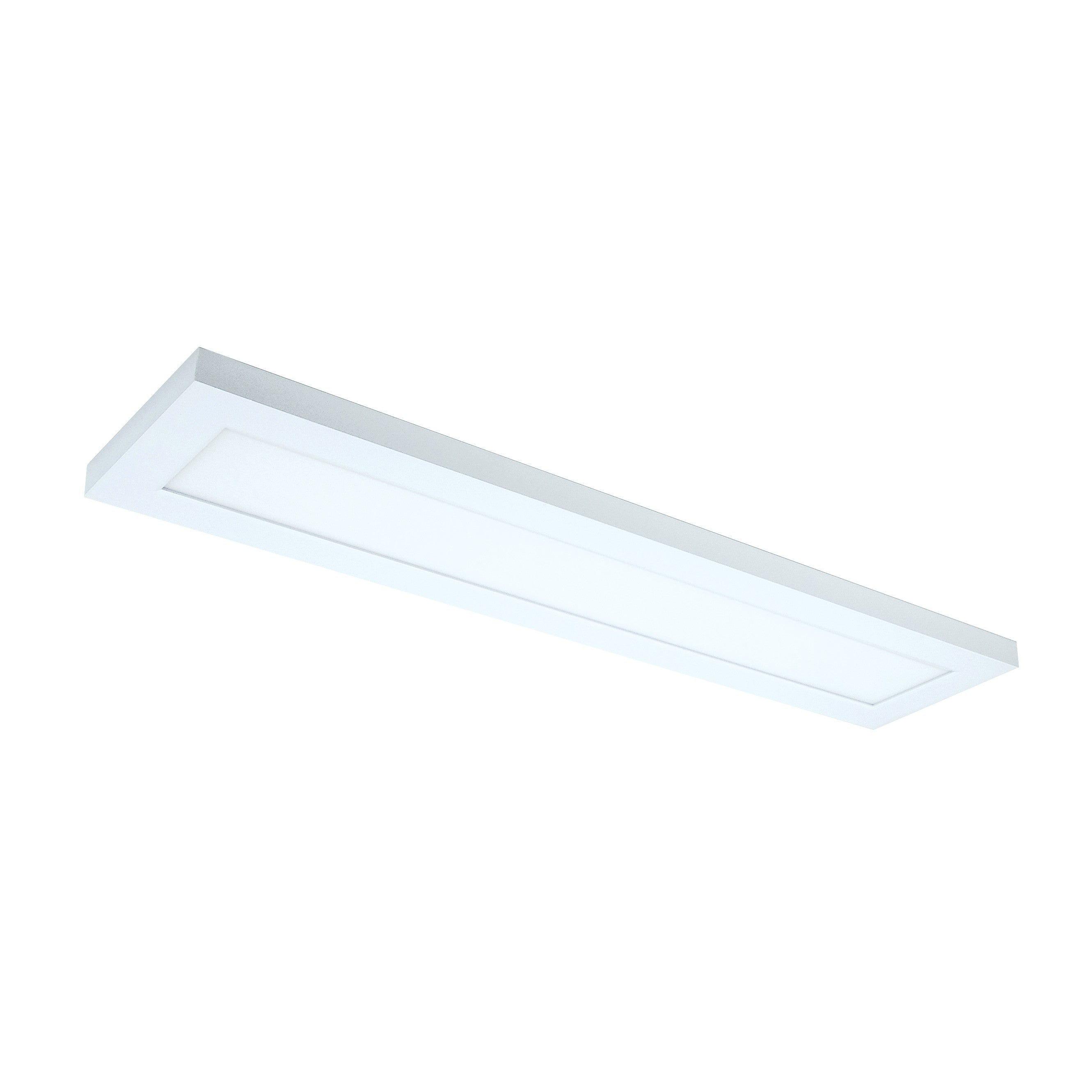 22W 5 inch x 2 foot Surface Mount LED Fixture 3000K White finish