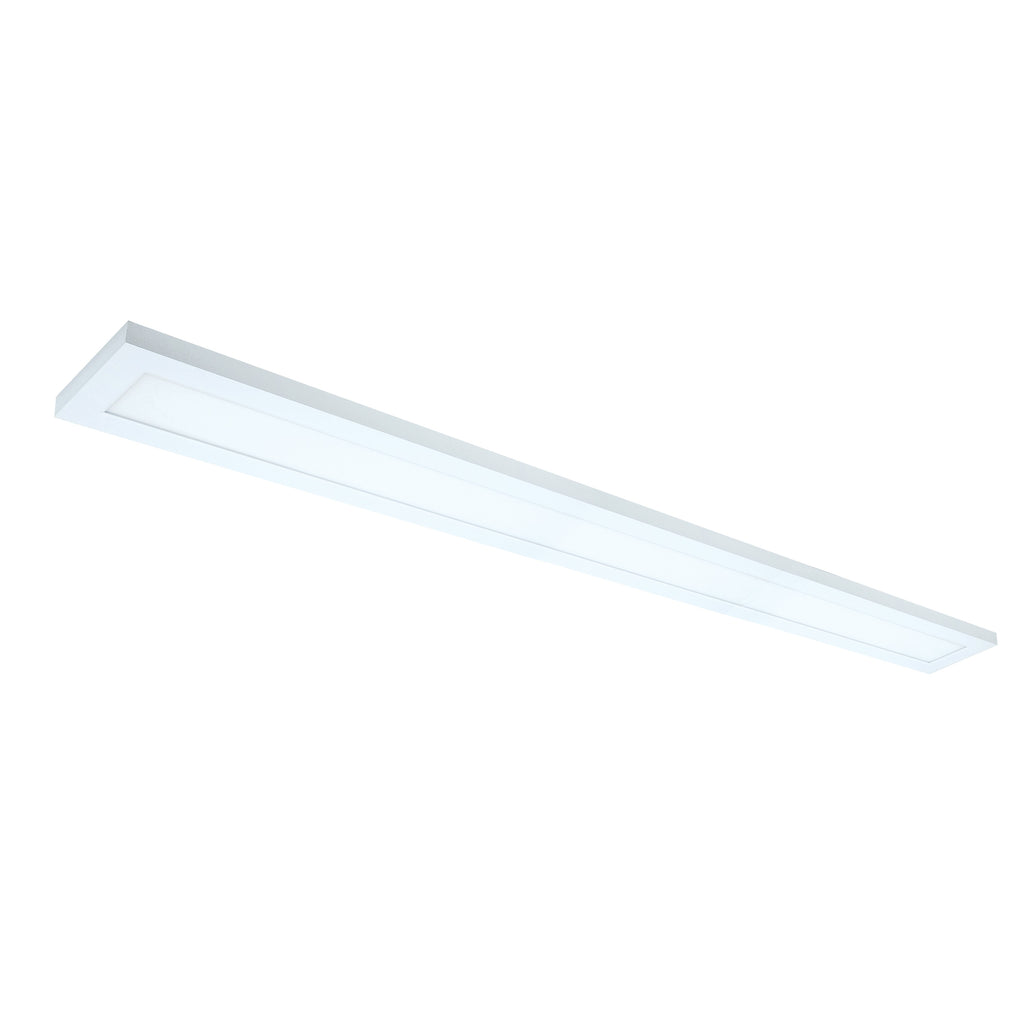 "30W 5"" x 36"" Surface Mount LED Fixture 3000K White Finish 120/277 volts"
