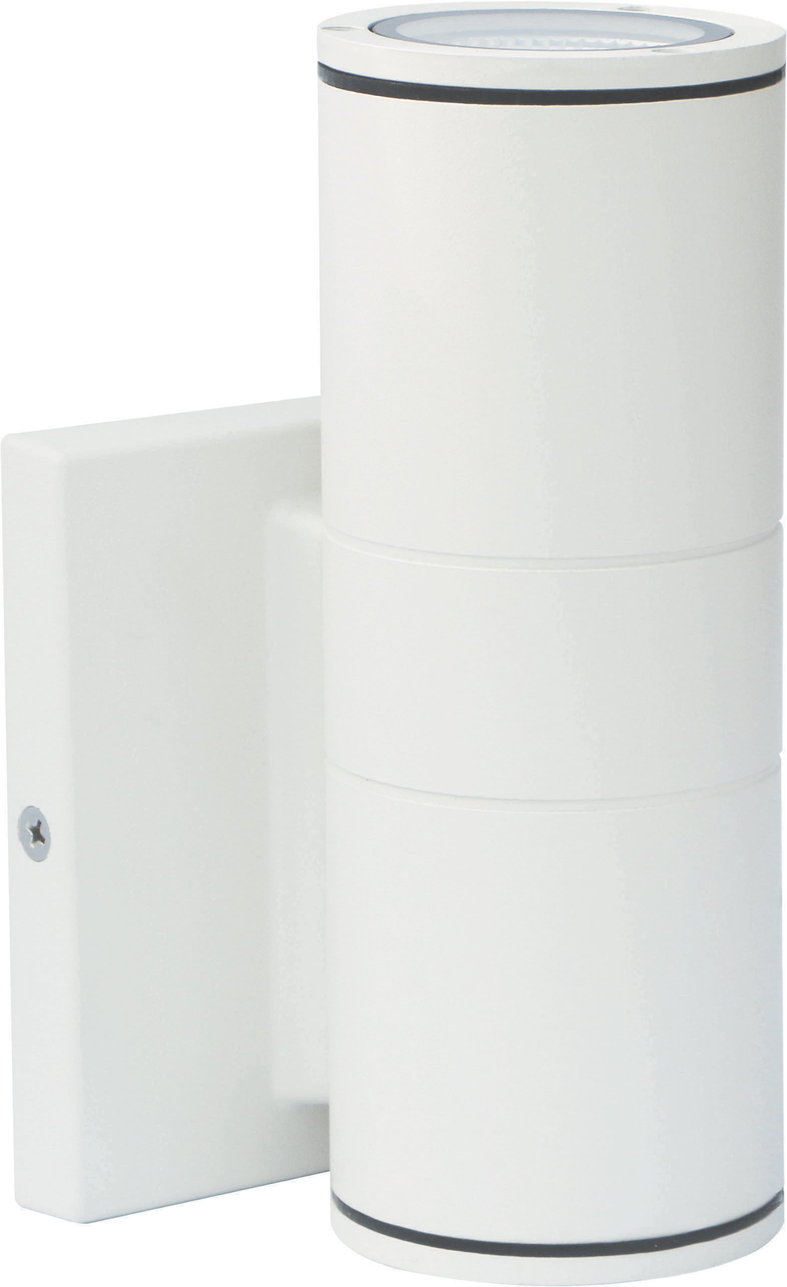 Nuvo 1-Light 10w Outdoor LED Wall Light Small Up or Down Sconce in White Finish