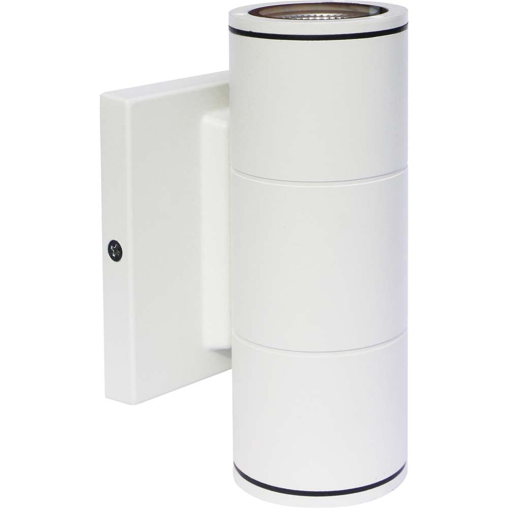 Nuvo 2-Light 10w 120-277v LED Small Up & Down Sconce Fixture in White Finish