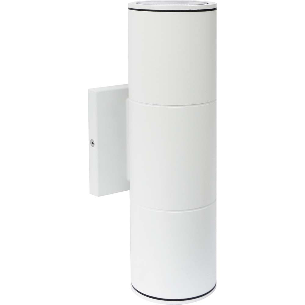 Nuvo 2-Light 20w 120-277v LED Large Up & Down Sconce Fixture in White Finish